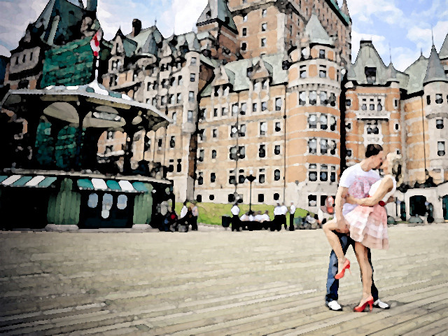 Karolina and Luke in Quebec City
