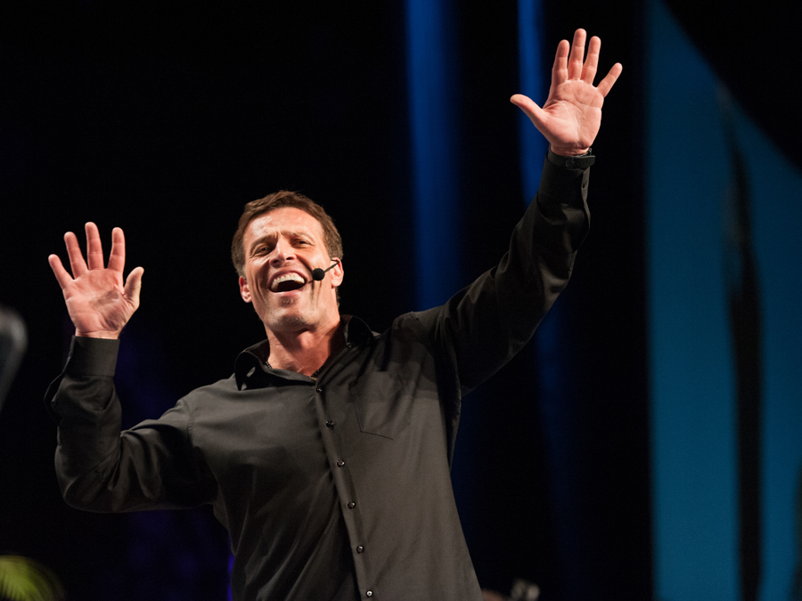 Stacey (me) and Anthony Robbins