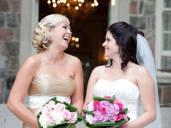 Bride and Maid of Honour, Graydon Hall Manor