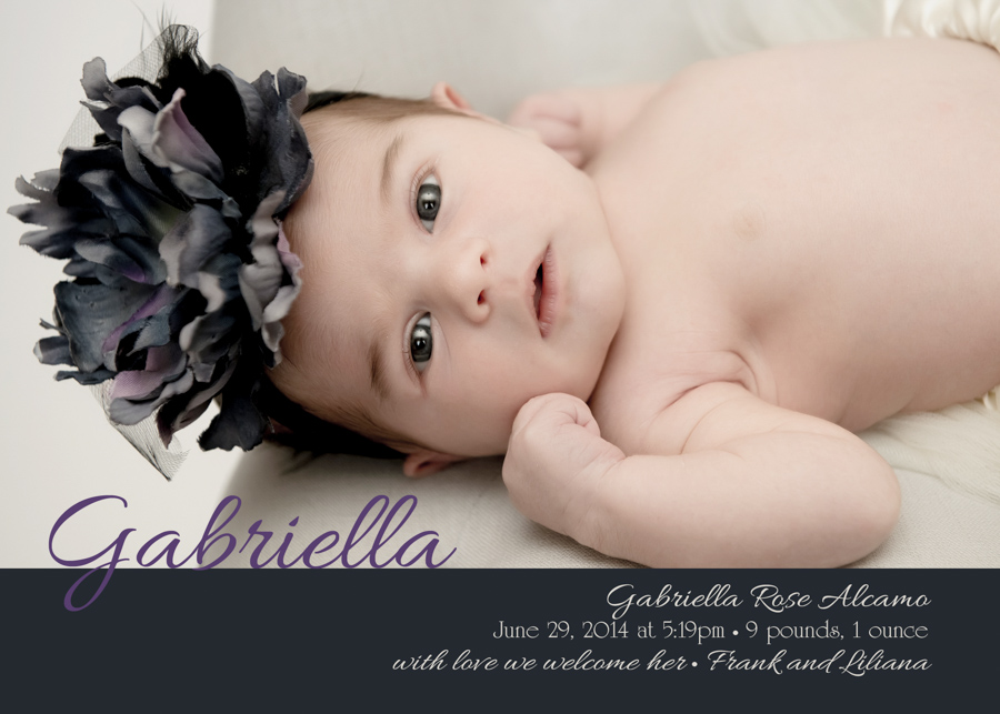 Birth Announcement for Gabriella