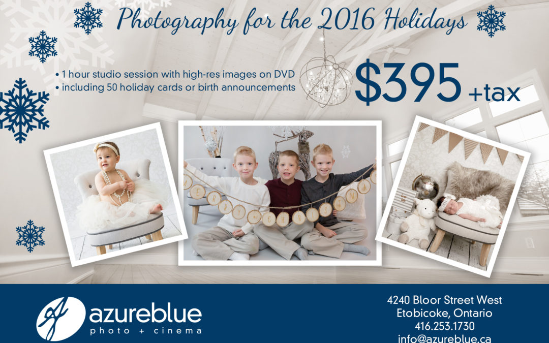 Holiday Photography at Azure Blue