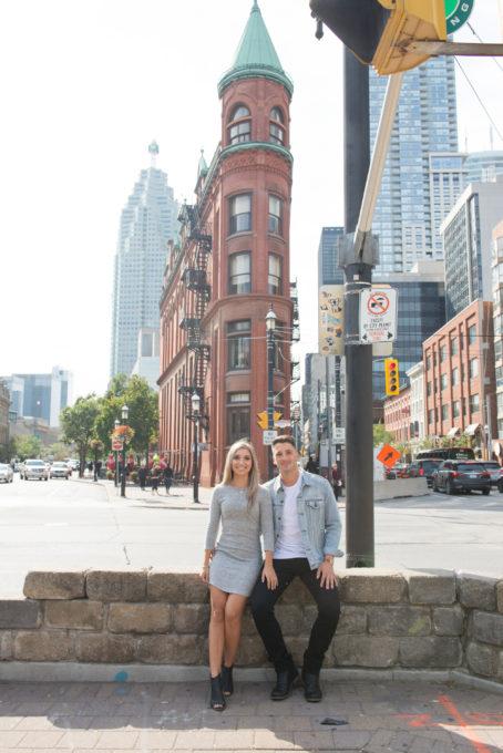 Omni King Edward hotel, engagement shoot, Flat Iron building, Toronto, wedding photography