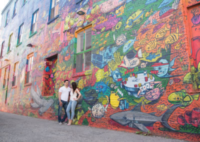engagement shoot, wedding photography, Toronto, Graffiti alley