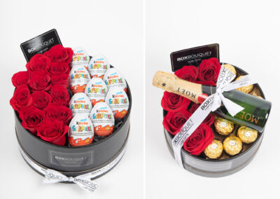 studio photography, product photography, studio, box bouquet,